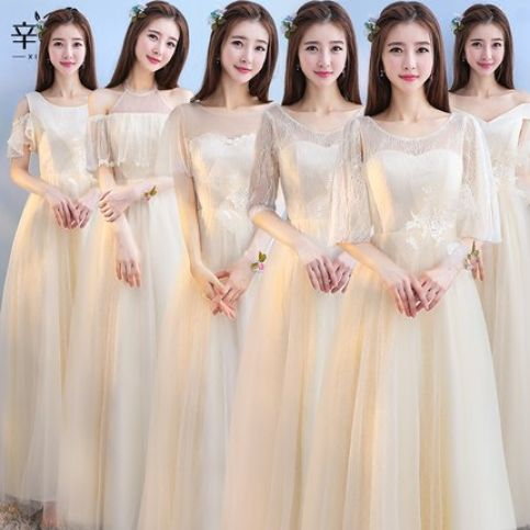 Gaun Bridesmait bride m 035<br> 1 bride_m_035_gaun_bridesmaid_cream